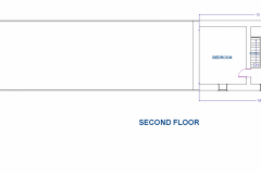 SECOND-FLOOR DIMENSIONS