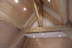 New roof oak beams